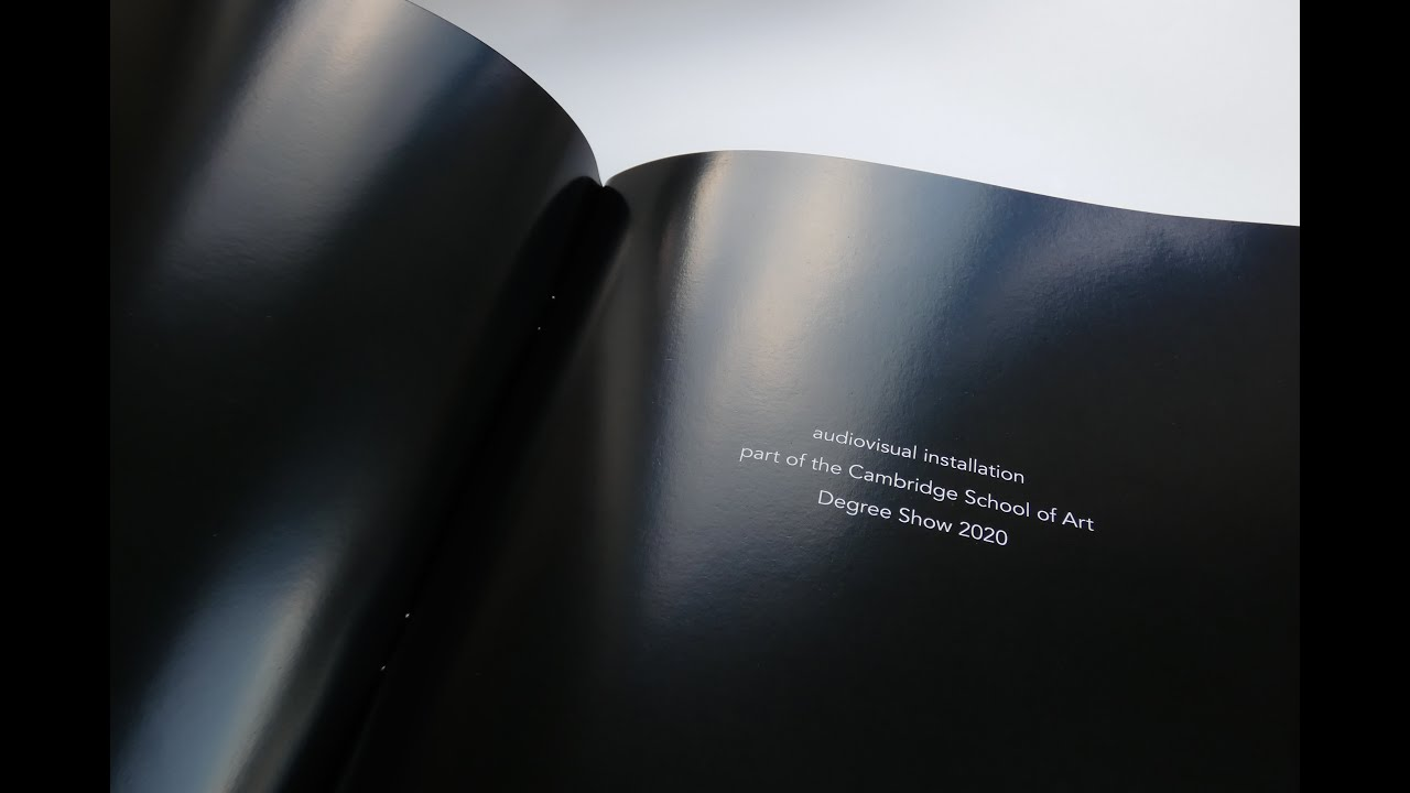 The exhibition catalogue includes images from the key parts of the audiovisual piece, an introduction to the work, and fragments from the voice narration. Diana Montañez Rivera.